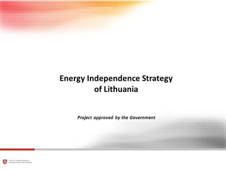 WORKING DRAFT Last Modified 8/13/2010 4:05:09 PM Central Europe Standard Time Printed 13.08.2010 14:22:48 Central Europe Standard Time Energy Independence.