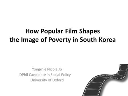 How Popular Film Shapes the Image of Poverty in South Korea