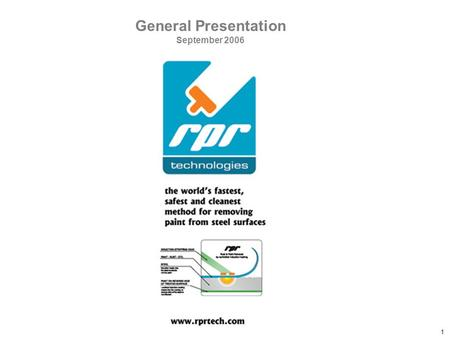 Confidential RPR Document 1 General Presentation September 2006.
