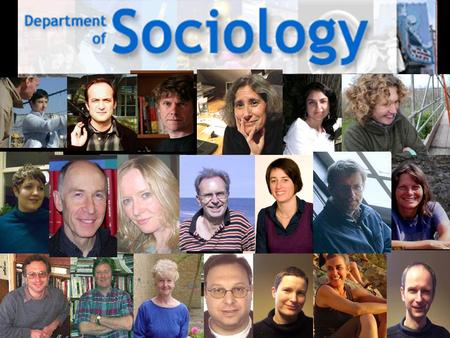 The Department of Sociology offers two degree programmes: BA Hons in Sociology BA Hons in Media and Cultural Studies.