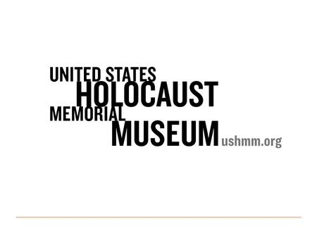 Components: How Bibliographic Records Became Grandparents Heather Curtis, Project Manager 2UNITED STATES HOLOCAUST MEMORIAL MUSEUM.
