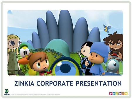ZINKIA CORPORATE PRESENTATION. 1.What is Zinkia? – A Company in Constant Growth Zinkia Business and Evolution Zinkia Business and Sources of Revenues.