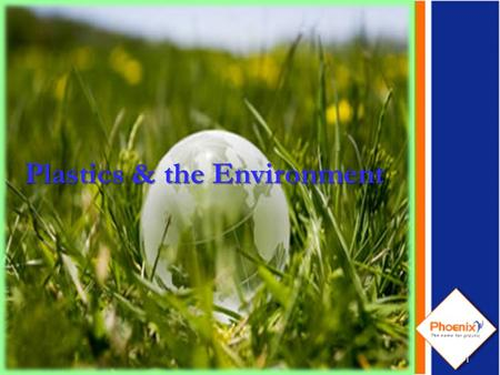 1 Plastics & the Environment. Agenda Plastics in our life Plastics replace wood, glass, paper & metal What is plastic? Why Plastics? Plastics & the Environment.