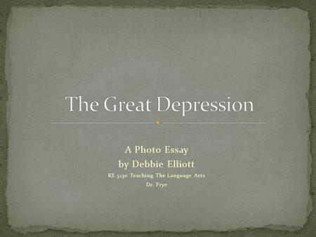 photo essay about the great depression