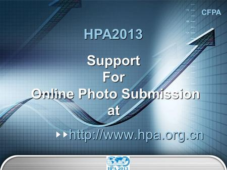 CFPA Support For Online Photo Submission at   HPA2013.