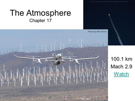 The Atmosphere Chapter 17 100.1 km Mach 2.9 Watch.