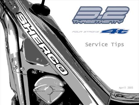 Service Tips April 2005. COOLING SYSTEM To check and/or fill the cooling system it is necessary to remove the rear fender, the fuel tank (photo 1) and.