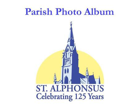 Parish Photo Album. 1882First church 1882First rectory.