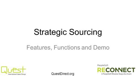 QuestDirect.org Strategic Sourcing Features, Functions and Demo.