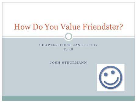 How Do You Value Friendster?
