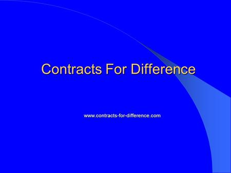 Contracts For Difference www.contracts-for-difference.com.