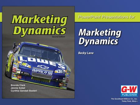 1. 2 Part 1 Marketing Dynamics Chapter 1 Marketing Is Dynamic!