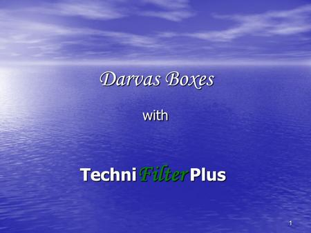 1 Darvas Boxes with Techni Filter Plus. 2 Disclaimer Brightspark does not have any knowledge of the investment needs or objectives of individual attendees.