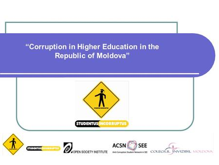 Corruption in Higher Education in the Republic of Moldova.