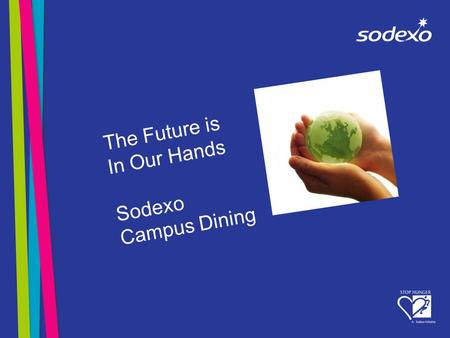 The Future is In Our Hands Sodexo Campus Dining. What is Sustainable Development? Development that meets the needs of the present without compromising.