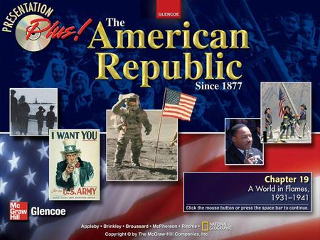 Splash Screen Contents Chapter Introduction Section 1America and the World Section 2World War II Begins Section 3The Holocaust Section 4America Enters.