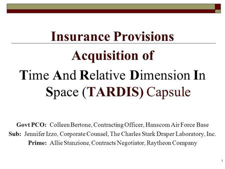 Insurance Provisions Acquisition of