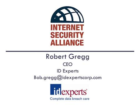 Robert Gregg CEO ID Experts