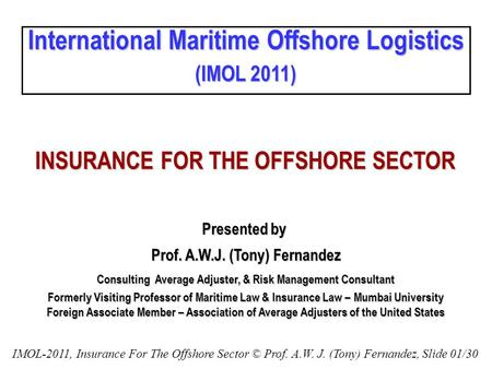 International Maritime Offshore Logistics