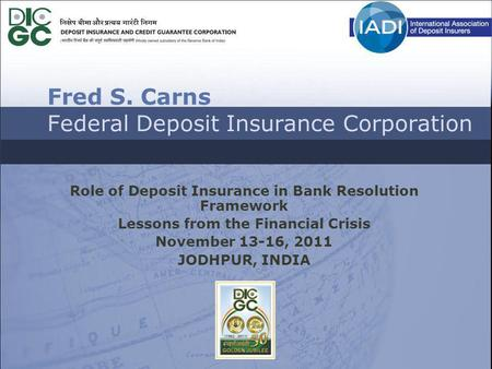 Fred S. Carns Federal Deposit Insurance Corporation