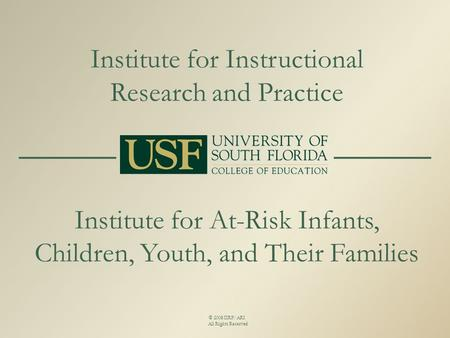 Institute for Instructional Research and Practice Institute for At-Risk Infants, Children, Youth, and Their Families © 2008 IIRP/ARI All Rights Reserved.