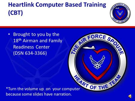 Heartlink Computer Based <strong>Training</strong> (CBT)