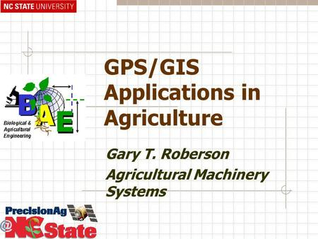 GPS/GIS Applications in Agriculture