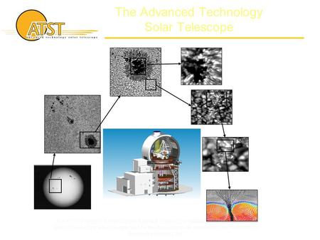The Advanced Technology Solar Telescope The ATST Project is funded by the National Science Foundation through the National Solar Observatory which is operated.