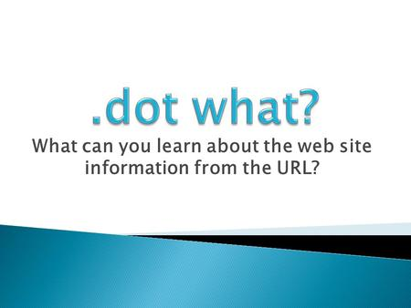 What can you learn about the web site information from the URL?