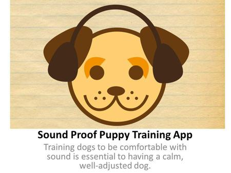 Sound Proof Puppy Training App Training dogs to be comfortable with sound is essential to having a calm, well-adjusted dog.