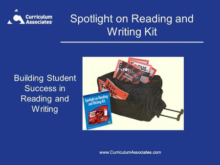 Spotlight on Reading and Writing Kit