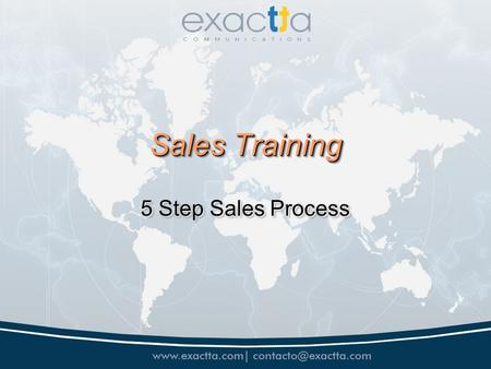Sales Training 5 Step Sales Process. Promoter Expectations Be Professional Be Professional Effort is expected and will be Rewarded Effort is expected.
