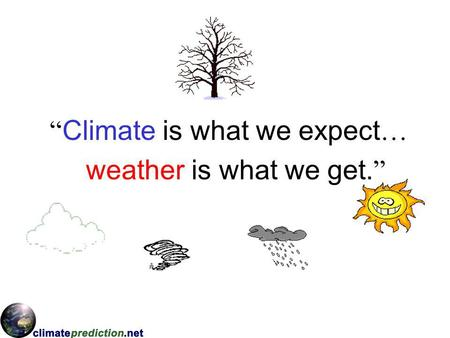 Climate is what we expect … weather is what we get.