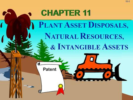 11-1 & I NTANGIBLE A SSETS N ATURAL R ESOURCES, P LANT A SSET D ISPOSALS, Patent CHAPTER 11.