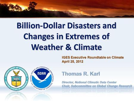 IGES Executive Roundtable on Climate April 25, 2012.
