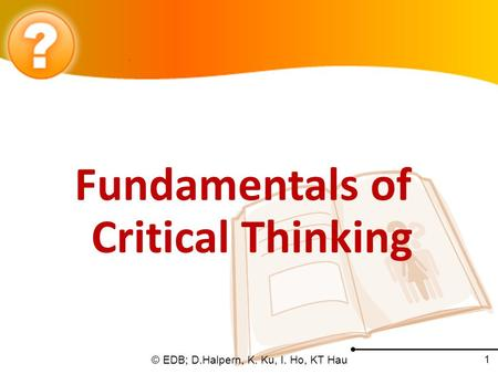 Fundamentals of critical thinking websites