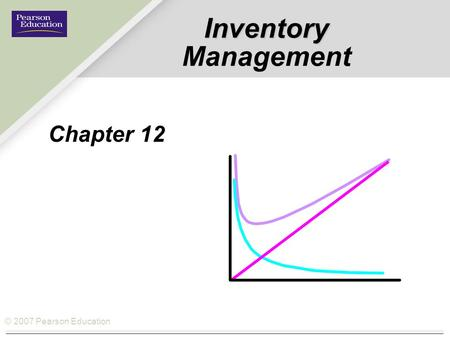 © 2007 Pearson Education Inventory Inventory Management Chapter 12.