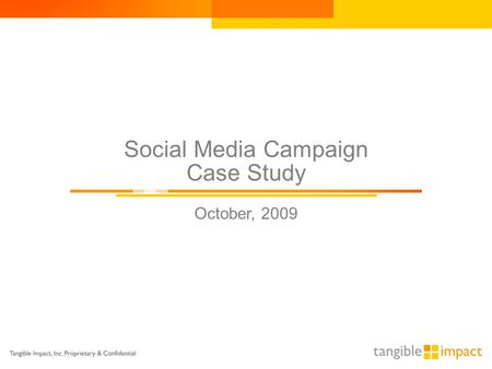 Social Media Campaign Case Study October, 2009. Overview Gannett Digital, the online arm of Gannett, manages a portfolio of interactive properties, from.