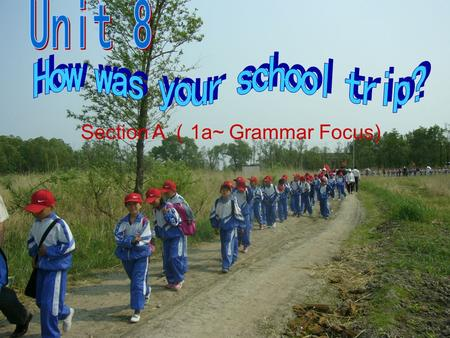Section A 1a~ Grammar Focus). What did you do on your last school trip? went to the beach had ice cream … Make a list: 1a.