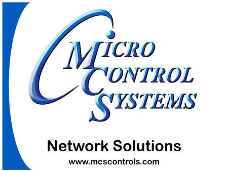Network Solutions www.mcscontrols.com.