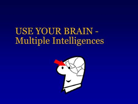 USE YOUR BRAIN - Multiple Intelligences Who is intelligent?