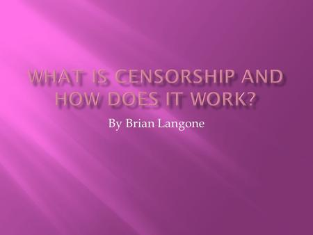 By Brian Langone. Internet censorship is essentially a method used by corporations, governments and others in order to filter what a user can view on.