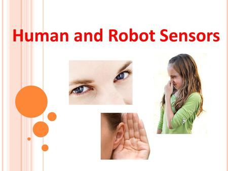 Human and Robot Sensors 1. Human and Robot Sensors Quiz 1. How many sensors or senses do humans have? List them. 2. Describe how any two of those human.