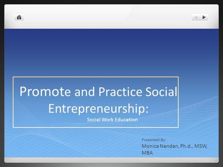 Module 1: What Is Social Entrepreneurship?