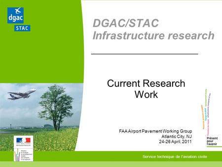 DGAC/STAC Infrastructure research