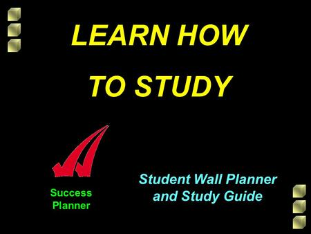Success Planner Student Wall Planner and Study Guide LEARN HOW TO STUDY.