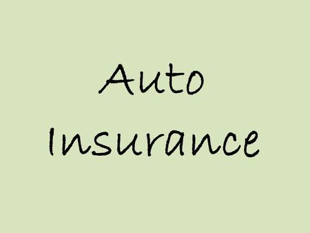 Auto Insurance. Dont Drive without Insurance! Driving without insurance is a risky proposition. Although it might save you money in the short run, the.