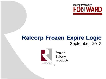 Ralcorp Frozen Expire Logic September, 2013. Agenda 2 SectionsPresenter BackgroundDavid Friedli Picking Functions Expiration Functions Distressing Functions.