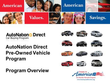 AutoNation Direct Pre-Owned Vehicle Program Program Overview.