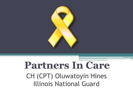 CH (CPT) Oluwatoyin Hines Illinois National Guard Partners In Care.